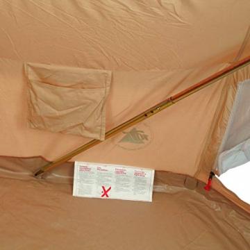 10T Camping-Zelt Desert 8 wasserdichtes 4 - 8 Mann Familienzelt Tipi aus Baumwolle-Mischgewebe - 16