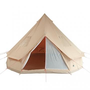 10T Camping-Zelt Desert 8 wasserdichtes 4 - 8 Mann Familienzelt Tipi aus Baumwolle-Mischgewebe - 3