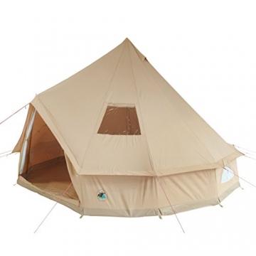 10T Camping-Zelt Desert 8 wasserdichtes 4 - 8 Mann Familienzelt Tipi aus Baumwolle-Mischgewebe - 4