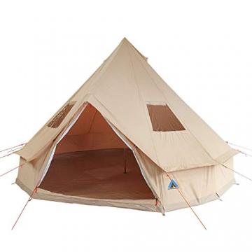 10T Camping-Zelt Desert 8 wasserdichtes 4 - 8 Mann Familienzelt Tipi aus Baumwolle-Mischgewebe - 1