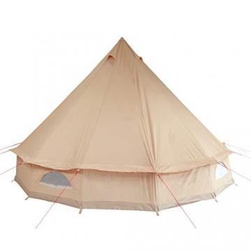 10T Camping-Zelt Desert 8 wasserdichtes 4 - 8 Mann Familienzelt Tipi aus Baumwolle-Mischgewebe - 5