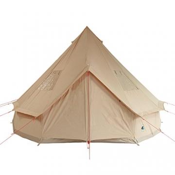 10T Camping-Zelt Desert 8 wasserdichtes 4 - 8 Mann Familienzelt Tipi aus Baumwolle-Mischgewebe - 7