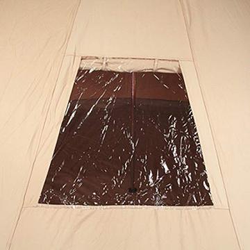 10T Camping-Zelt Desert 8 wasserdichtes 4 - 8 Mann Familienzelt Tipi aus Baumwolle-Mischgewebe - 9