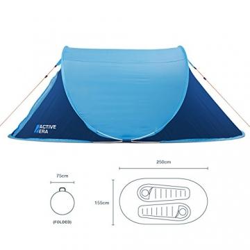 Active Era™ Wurfzelt für 2 Personen - Zelt mit Belüftung und praktischer Tragetasche | Perfektes Pop Up Zelt für Festivals und Camping Trips - 2