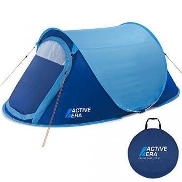 Active Era™ Wurfzelt für 2 Personen - Zelt mit Belüftung und praktischer Tragetasche | Perfektes Pop Up Zelt für Festivals und Camping Trips - 1