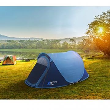 Active Era™ Wurfzelt für 2 Personen - Zelt mit Belüftung und praktischer Tragetasche | Perfektes Pop Up Zelt für Festivals und Camping Trips - 7