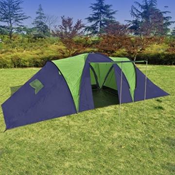 Anself Campingzelt Familienzelt Gruppenzelt Zelt 9 Personen Wasserdicht 3 Farbe Optional - 2