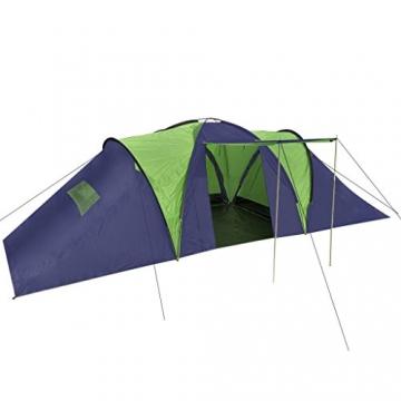 Anself Campingzelt Familienzelt Gruppenzelt Zelt 9 Personen Wasserdicht 3 Farbe Optional - 1