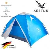 """Aretus- """"Eagle Tent"""" großes Pop Up Wurfzelt 2 3 4 Personen Zelt - mit Vorzelt - Wasserdicht 2 Fach Belüftet - UV-Schutz - Für Camping Festival mit 2 in 1 Funktion - 1"""