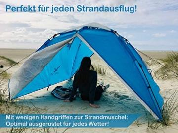 """Aretus- """"Eagle Tent"""" großes Pop Up Wurfzelt 2 3 4 Personen Zelt - mit Vorzelt - Wasserdicht 2 Fach Belüftet - UV-Schutz - Für Camping Festival mit 2 in 1 Funktion - 4"""