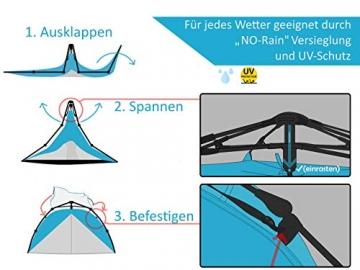 """Aretus- """"Eagle Tent"""" großes Pop Up Wurfzelt 2 3 4 Personen Zelt - mit Vorzelt - Wasserdicht 2 Fach Belüftet - UV-Schutz - Für Camping Festival mit 2 in 1 Funktion - 5"""