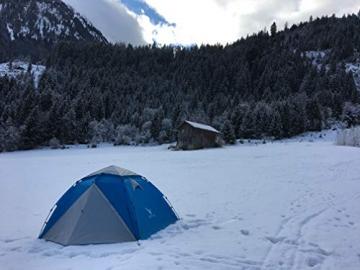 """Aretus- """"Eagle Tent"""" großes Pop Up Wurfzelt 2 3 4 Personen Zelt - mit Vorzelt - Wasserdicht 2 Fach Belüftet - UV-Schutz - Für Camping Festival mit 2 in 1 Funktion - 7"""