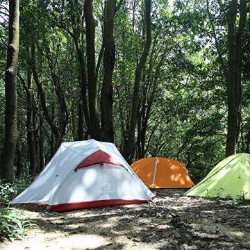 Bessport Ultraleicht Zelte 2-3 Personen, Winddicht &Wasserdicht PU 3000MM+, 3-4 Saison, Kuppelzelt Sofortiges Aufstellen für Trekking, Festival, Camping und Outdoor (3Person-Burgundy) - 4