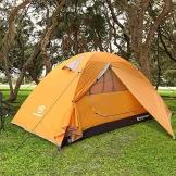 Bessport Zelt 2 Personen Ultraleichte Camping Zelt Wasserdicht 3-4 Saison Kuppelzelt Sofortiges Aufstellen für Trekking, Outdoor, Festival, mit kleinem Packmaß (Orange) - 1