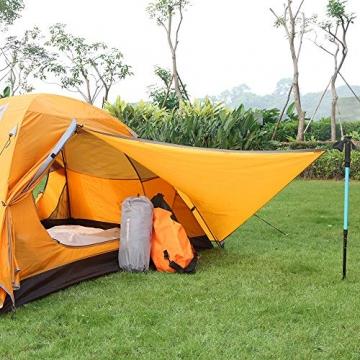 Bessport Zelt 2 Personen Ultraleichte Camping Zelt Wasserdicht 3-4 Saison Kuppelzelt Sofortiges Aufstellen für Trekking, Outdoor, Festival, mit kleinem Packmaß (Orange) - 3