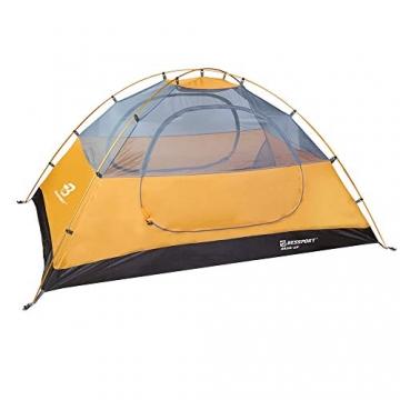 Bessport Zelt 2 Personen Ultraleichte Camping Zelt Wasserdicht 3-4 Saison Kuppelzelt Sofortiges Aufstellen für Trekking, Outdoor, Festival, mit kleinem Packmaß (Orange) - 4