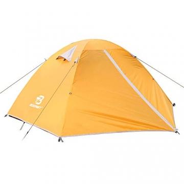 Bessport Zelt 2 Personen Ultraleichte Camping Zelt Wasserdicht 3-4 Saison Kuppelzelt Sofortiges Aufstellen für Trekking, Outdoor, Festival, mit kleinem Packmaß (Orange) - 5