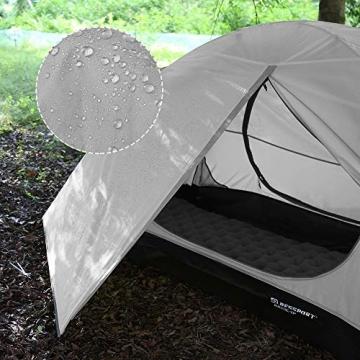 Bessport Zelt 2 Personen Ultraleichte Camping Zelte 3-4 Saison Kuppelzelt Kleines Packmaß, Wasserdicht PU 3000mm, Rucksack Zelt Einfach Sofortiges Aufstellen für Trekking, Outdoor, Festival (Grey) - 3