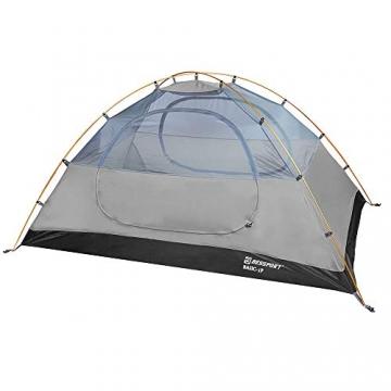 Bessport Zelt 2 Personen Ultraleichte Camping Zelte 3-4 Saison Kuppelzelt Kleines Packmaß, Wasserdicht PU 3000mm, Rucksack Zelt Einfach Sofortiges Aufstellen für Trekking, Outdoor, Festival (Grey) - 4