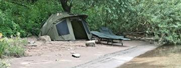 CampFeuer Angelzelt Storm I 2 Mann Karpfenzelt für Angler mit 3000 mm Wassersäule I wasserdicht I 2 Mann Bivvy Tent Anglerzelt I Fischerzelt mit Boden - 2