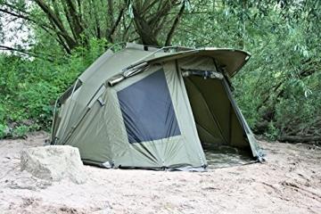 CampFeuer Angelzelt Storm I 2 Mann Karpfenzelt für Angler mit 3000 mm Wassersäule I wasserdicht I 2 Mann Bivvy Tent Anglerzelt I Fischerzelt mit Boden - 3