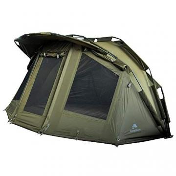 CampFeuer Angelzelt Storm I 2 Mann Karpfenzelt für Angler mit 3000 mm Wassersäule I wasserdicht I 2 Mann Bivvy Tent Anglerzelt I Fischerzelt mit Boden - 1