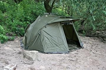 CampFeuer Angelzelt Storm I 2 Mann Karpfenzelt für Angler mit 3000 mm Wassersäule I wasserdicht I 2 Mann Bivvy Tent Anglerzelt I Fischerzelt mit Boden - 5