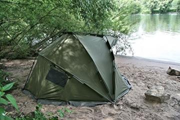 CampFeuer Angelzelt Storm I 2 Mann Karpfenzelt für Angler mit 3000 mm Wassersäule I wasserdicht I 2 Mann Bivvy Tent Anglerzelt I Fischerzelt mit Boden - 6