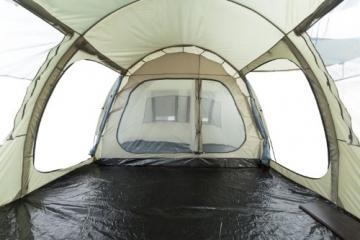 CampFeuer Campingzelt für 4 Personen | Großes Familienzelt mit 3 Eingängen und 5.000 mm Wassersäule | Tunnelzelt | olivgrün | Gruppenzelt | So Macht Camping Spaß! - 2