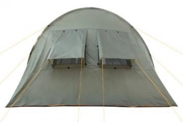 CampFeuer Campingzelt für 4 Personen | Großes Familienzelt mit 3 Eingängen und 5.000 mm Wassersäule | Tunnelzelt | olivgrün | Gruppenzelt | So Macht Camping Spaß! - 4