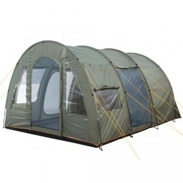 CampFeuer Campingzelt für 4 Personen | Großes Familienzelt mit 3 Eingängen und 5.000 mm Wassersäule | Tunnelzelt | olivgrün | Gruppenzelt | So Macht Camping Spaß! - 6