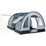 CampFeuer Campingzelt für 4 Personen | Großes Familienzelt mit 3 Eingängen und 5.000 mm Wassersäule | Tunnelzelt | blau/grau | Gruppenzelt | So Macht Camping Spaß! - 1