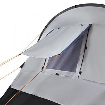 CampFeuer Campingzelt für 4 Personen | Großes Familienzelt mit 3 Eingängen und 2.000 mm Wassersäule | Tunnelzelt | schwarz/blau/grau | Gruppenzelt | So Macht Camping Spaß! - 3