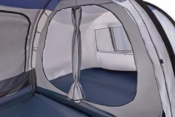 CampFeuer Campingzelt für 4 Personen | Großes Familienzelt mit 3 Eingängen und 2.000 mm Wassersäule | Tunnelzelt | schwarz/blau/grau | Gruppenzelt | So Macht Camping Spaß! - 7