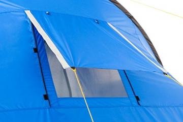 CampFeuer Campingzelt für 4 Personen   Großes Familienzelt mit 3 Eingängen und 2.000 mm Wassersäule   Tunnelzelt   blau/grau   Gruppenzelt   So Macht Camping Spaß! - 5