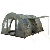 CampFeuer Campingzelt für 4 Personen | Großes Familienzelt mit 3 Eingängen und 5.000 mm Wassersäule | Tunnelzelt | olivgrün | Gruppenzelt | So Macht Camping Spaß! - 1