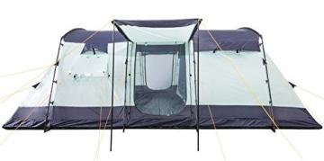 CampFeuer Familienzelt XtraL Zelt für 6 Personen | riesiger Vorraum, 5000 mm Wassersäule | Campingzelt Tunnelzelt groß - 4