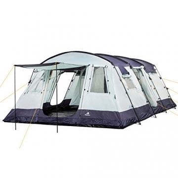 CampFeuer Familienzelt XtraL Zelt für 6 Personen | riesiger Vorraum, 5000 mm Wassersäule | Campingzelt Tunnelzelt groß - 1