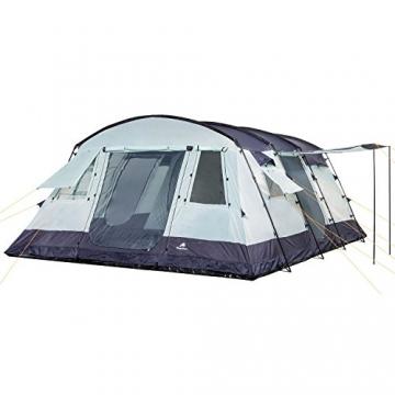 CampFeuer Familienzelt XtraL Zelt für 6 Personen | riesiger Vorraum, 5000 mm Wassersäule | Campingzelt Tunnelzelt groß - 5