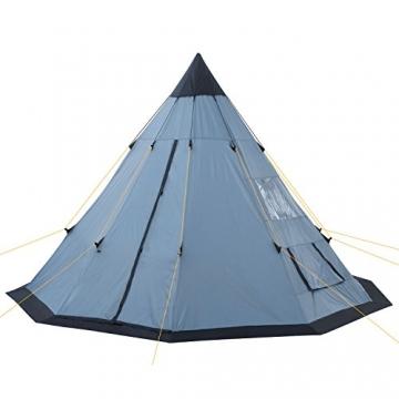 CampFeuer - Tipi Zelt (Teepee), 365 x 365 x 250 cm, grau, Indianerzelt, Camping Pyramidenzelt, - 2