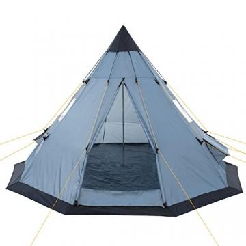 CampFeuer - Tipi Zelt (Teepee), 365 x 365 x 250 cm, grau, Indianerzelt, Camping Pyramidenzelt, - 3