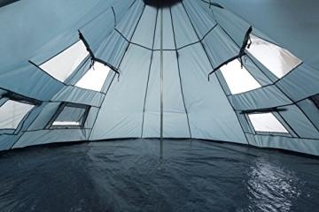 CampFeuer - Tipi Zelt (Teepee), 365 x 365 x 250 cm, grau, Indianerzelt, Camping Pyramidenzelt, - 4