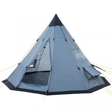 CampFeuer - Tipi Zelt (Teepee), 365 x 365 x 250 cm, grau, Indianerzelt, Camping Pyramidenzelt, - 1