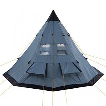 CampFeuer - Tipi Zelt (Teepee), 365 x 365 x 250 cm, grau, Indianerzelt, Camping Pyramidenzelt, - 5