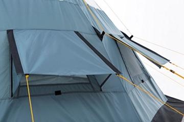 CampFeuer - Tipi Zelt (Teepee), 365 x 365 x 250 cm, grau, Indianerzelt, Camping Pyramidenzelt, - 7