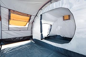 CampFeuer Tunnelzelt für 4 Personen | Großes Familienzelt mit 2 Eingängen und 3.000 mm Wassersäule | Gruppenzelt | grau | Campingzelt | So Macht Camping Spaß! - 8