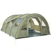 CampFeuer Tunnelzelt mit 2 Schlafkabinen, olivgrün, 5000 mm Wassersäule, mit Bodenplane und versetzbarer Vorderwand - 1