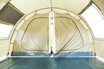 CampFeuer Tunnelzelt mit 2 Schlafkabinen, olivgrün, 5000 mm Wassersäule, mit Bodenplane und versetzbarer Vorderwand - 6