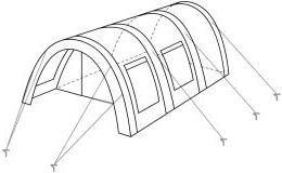 CampFeuer Tunnelzelt mit 2 Schlafkabinen, olivgrün, 5000 mm Wassersäule, mit Bodenplane und versetzbarer Vorderwand - 7