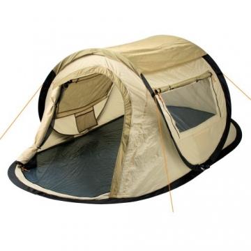 CampFeuer Wurfzelt Quiki I 2 Personen Quicktent I Campingzelt für Festival und mehr I wasserabweisend I Pop-Up Zelt (Creme/Beige) - 1